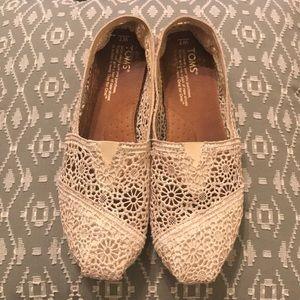 Cream Crochet Toms!